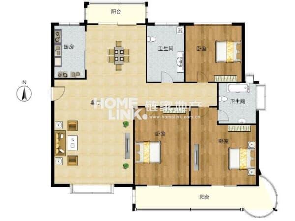 元 户型: 3室2厅 朝向: 南北 楼层: 中楼层/9楼 小区: 伊萨卡国际城鹭