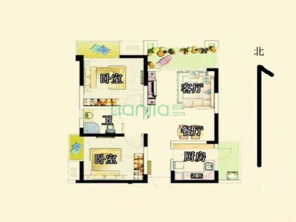 中信未来城南区 2室2厅