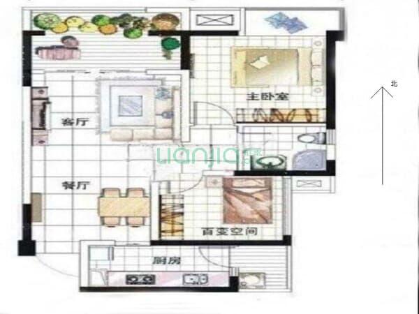 中信未来城北区 2室2厅